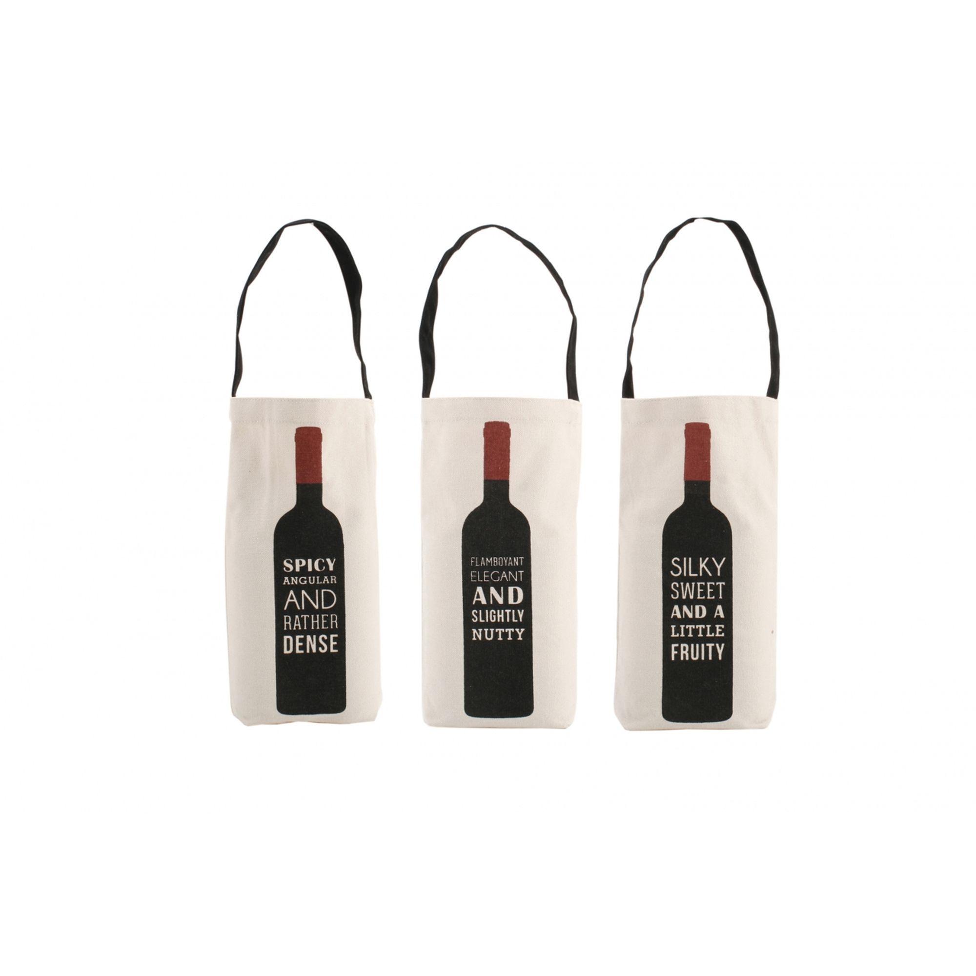 Cheeky Little Wine Slogan Bottle Bags